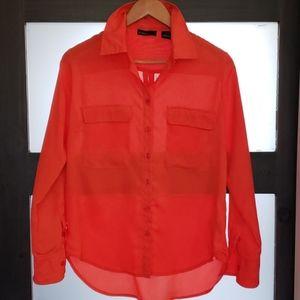 PRESS  orange  blouse